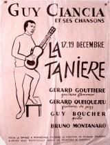 Affiche du cabaret frontalier La Tanière