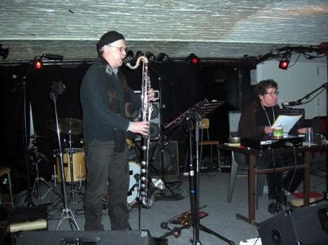 Jacques Leclercq à la clarinette basse et Guy Ciancia.