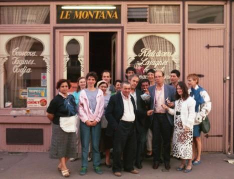 photo des participants, devant Le Montana