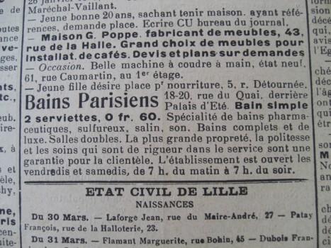 Bulletin de Lille, 2 avril 1916